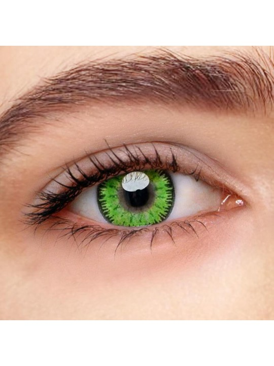 Mystery Green Prescription Yearly Colored Contacts